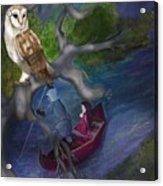 White Owl Magic Acrylic Print