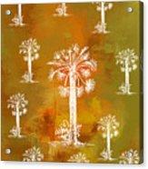 White Palms Gold Acrylic Print