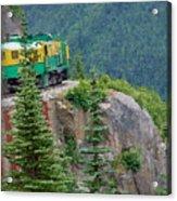 White Pass Train Alaska - Canada Acrylic Print