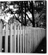 White Picket Fence- By Linda Woods Acrylic Print