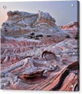 White Pocket Sandstone Fins Acrylic Print
