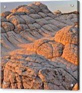 White Pockets Brain Rock Sunrise Acrylic Print