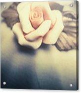 White Porcelain Rose Acrylic Print