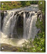 White River Falls Acrylic Print by Connie Cooper-Edwards