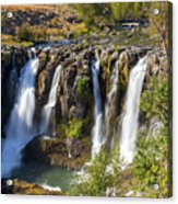 White River Falls In Tygh Valley Acrylic Print