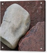 White Rock On Red Rock Number 1 Acrylic Print