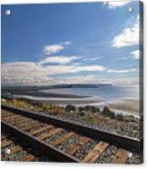White Rock Promenade In British Columbia Acrylic Print