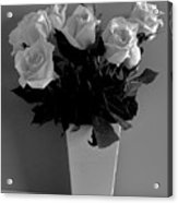 White Roses With A Glow Acrylic Print