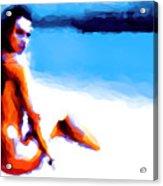 White Sand Acrylic Print