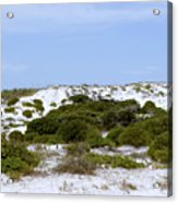 White Sand Dunes And Blue Skies Acrylic Print