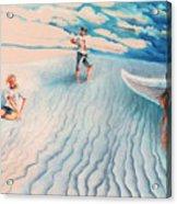 White Sands Family Acrylic Print