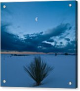 White Sands Moonrise Acrylic Print