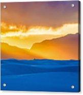 White Sands Sunset 2 Acrylic Print