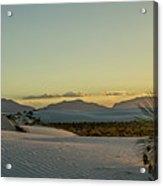 White Sands Sunset Acrylic Print