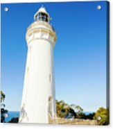 White Seaside Tower Acrylic Print