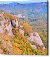 White Side Mountain Fool's Rock In Autumn Acrylic Print