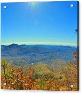 White Side Mountain Nantahala National Forest In Autumn Acrylic Print