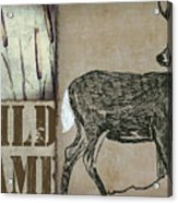 White Tail Deer Wild Game Rustic Cabin Acrylic Print