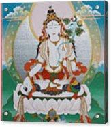 White Tara Chintamani Sita Tara Acrylic Print