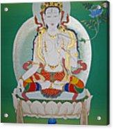 White Tara Acrylic Print