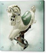 White Toy Horse Acrylic Print