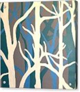 White Trees Acrylic Print