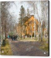 White Trees And Honka Acrylic Print