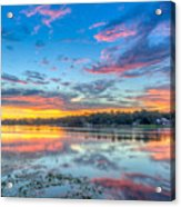 White Trout Lake Sunset - Tampa, Florida  Acrylic Print