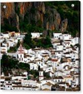 White Village Of Ubrique Spain Acrylic Print