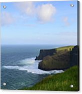 White Water At The Base Of The Cliff's Of Moher Acrylic Print