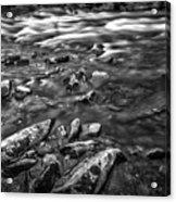 White Water Bw Acrylic Print
