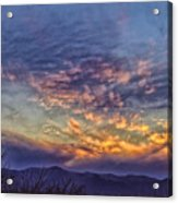 White Water Draw Sunset Acrylic Print
