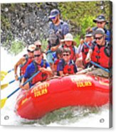 July In Oregon, White Water Rafting Acrylic Print