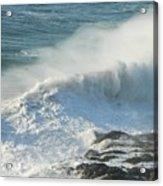 White Wave Sprays Acrylic Print