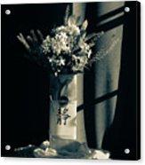 White Wildflowers In June Acrylic Print