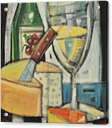 White Wine And Cheese Acrylic Print