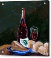 White Wine Acrylic Print