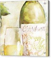 White Wine Watercolor Acrylic Print