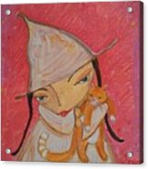 White Witch And Kitty Poo Acrylic Print