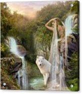 White Wolf Falls Acrylic Print