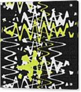 White Yellow On Black Acrylic Print