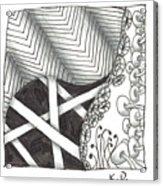 White Zen 21 Acrylic Print