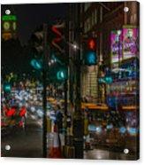 Whitehall London At Night  Acrylic Print