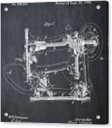 Whitehill Sewing Machine Patent 1885 Chalk Acrylic Print