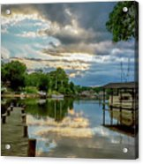White's Cove Reflections Acrylic Print