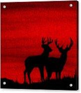 Whitetail Deer At Sunset Acrylic Print