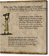 Who Are The Leprechyauns Of Ireland Acrylic Print