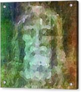 Who Do Men Say That I Am - The Shroud Acrylic Print by Glenn McCarthy Art and Photography
