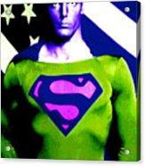Who Is Superman Acrylic Print