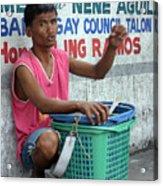 Who Will Buy My Laundry Baskets Acrylic Print